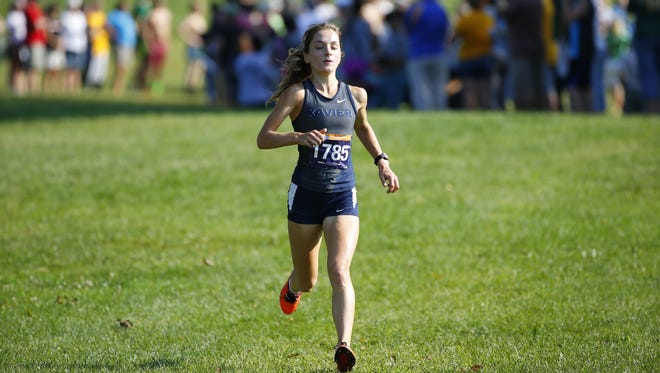 Freshman Caroline Gosser leads Xavier's cross country team and will participate in Saturday's Big East Championships in Mason.