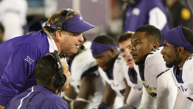 Gary Patterson (in visor) and TCU face an aggressive opponent at home Thursday night.
