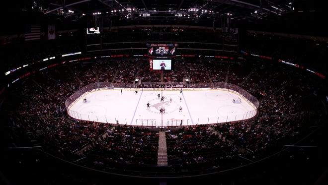 Detroit Red Wings vs Arizona Coyotes in the 1st period on Jan. 14, 2016 in Glendale.