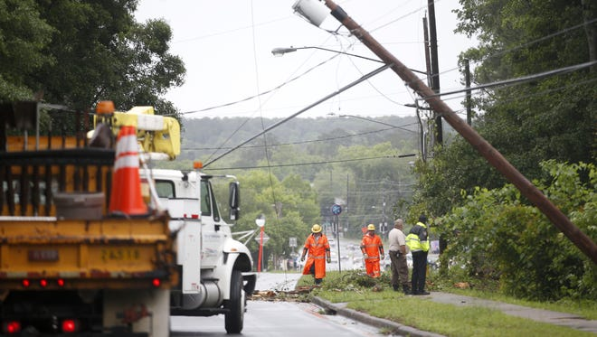 File photo of a downed power line.