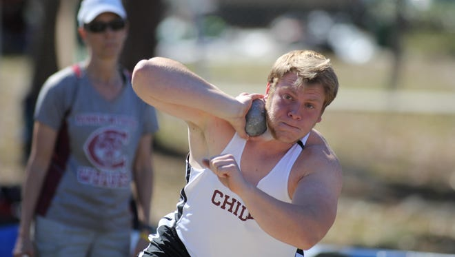 Chiles senior Cole Upthegrove should be in the middle of a fierce battle to win a state title in shot put this weekend.