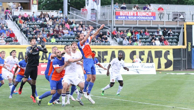 First-half action from Saturday's FC Cincinnati-Harrisburg City match.