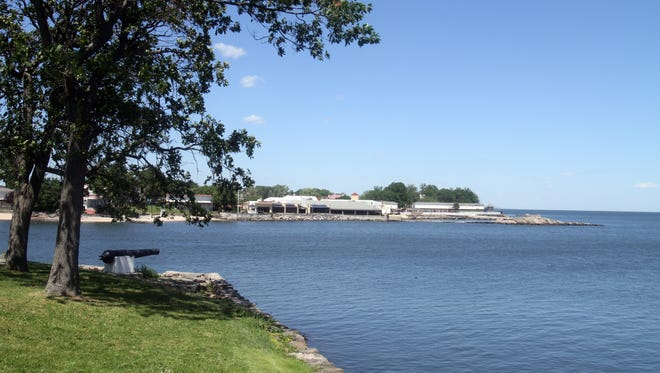 Beckwith Point in New Rochelle, seen from Glen Island, in June.