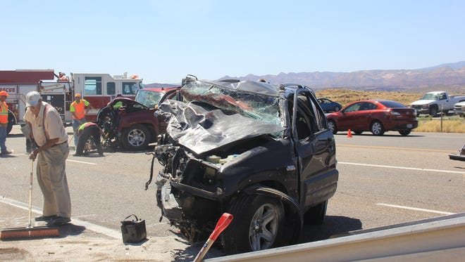 Five vehicles were involved in a crash on State Route 9 Thursday, July 7, 2016, causing four people to be transported to Dixie Regional Medical Center to receive medical attention.