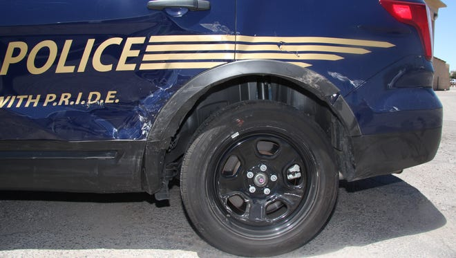 A Las Cruces Police Department SUV was involved in a fatal crash in June. Statistics show the number of crashes involving LCPD's fleet vehicles is up for the second year in a row,  though the number of injuries is down.