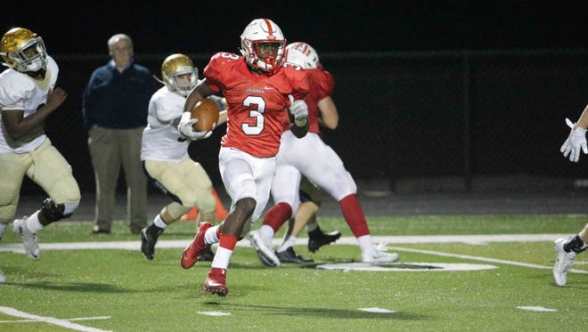 Russ Yeast finished with five touchdowns as Center Grove beat Cathedral in overtime Friday night.