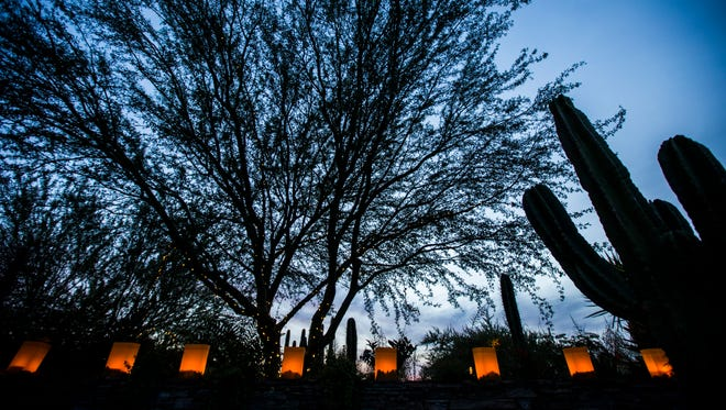 Las Noches de Las Luminarias at the Desert Botanical Garden on Dec. 9, 2016, in Phoenix.