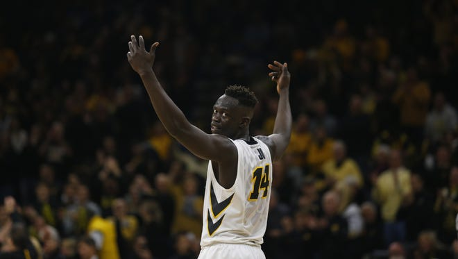 Senior Peter Jok is Iowa's undisputed star this season, but he hasn't fared well in games played in Wells Fargo Arena.  He gets one more shot in his hometown Saturday, against Jeremy Morgan and Northern Iowa.