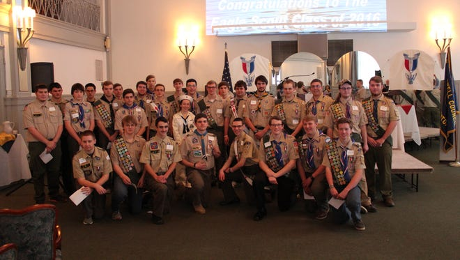 The Boy Scouts of the Baden-Powell Council Eagle Scout Class of 2016 were recognized on Feb. 5.