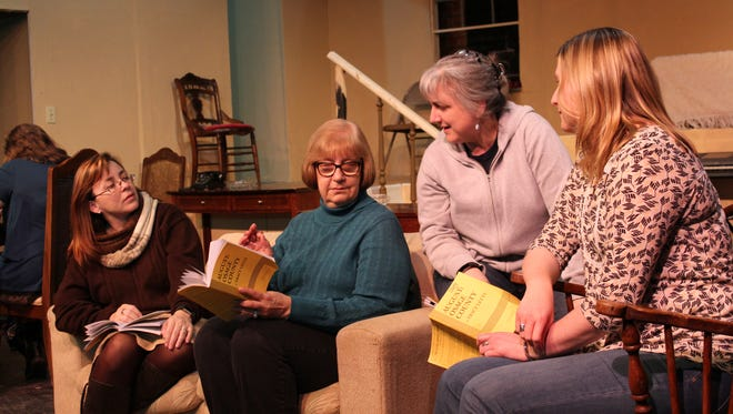 "Cast members from Cumberland Players' production of ""August: Osage County"" rehearse a scene. The show opens Feb. 24 at The Little Theatre in Vineland."