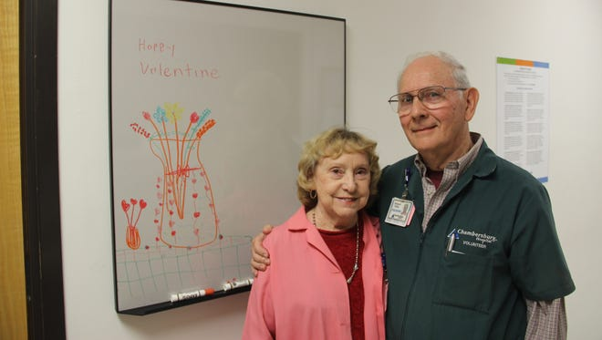 Nancy and Richard White fell in love more than 60 years ago. Today, they both love volunteering at Chambersburg Hospital.