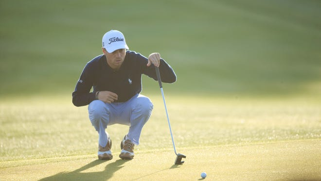 Feb 3, 2017; Scottsdale, AZ, USA;  Justin Thomas on the green of the 10th during the second round of the Waste Management Phoenix Open golf tournament  at TPC Scottsdale. Mandatory Credit: Allan Henry-USA TODAY Sports