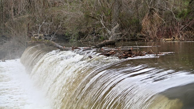 Jeff Weaver photographed Perry's Mill Dam in Walland, Tenn. in late January. Water runoff from the Smoky Mountains filled the Little River after heavy rains in the area.