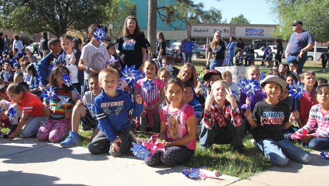 Craft Elementary School students attend the annual walk against child abuse April 7, 2017. The child abuse rate in Eddy County increased from 13 per 1,000 in 2015 to 14 per 1,000 in 2016, according to the KIDS Count data center.