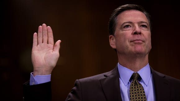 James Comey testifies in front of the Senate Judiciary