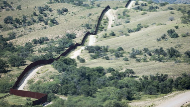Border fence in Nogales, Arizona.