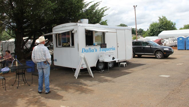 Dalia's Taqueria across from Safeway in South Salem serves customers during the lunch rush.