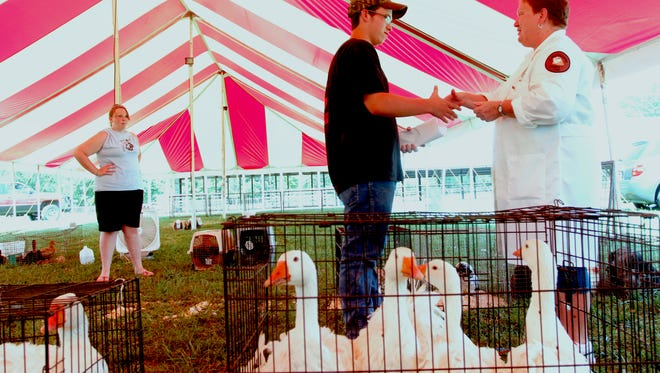 The Christian County Fair Board sponsors the fair to give area youths, 4-H and FFA members an opportunity to exhibit their animals and other agriculture-related exhibits.