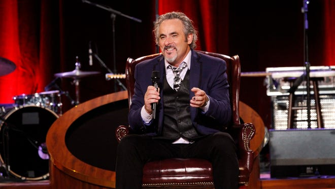 David Feherty speaks to the audience at his live show during the week of Super Bowl XLIX in 2015 in Arizona. Feherty will be peforming at the Champlain Valley Exposition on Oct. 14, 2017.
