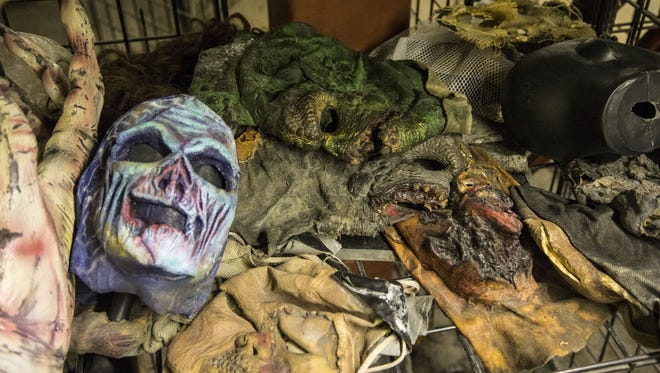 The 13th Floor Haunted House in Phoenix has a huge inventory of scare masks, costumes, props and animatronics.
