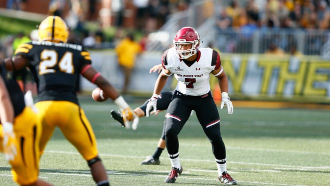 New Mexico State linebacker Javahn Fergurson has been productive at middle linebacker for the Aggies.