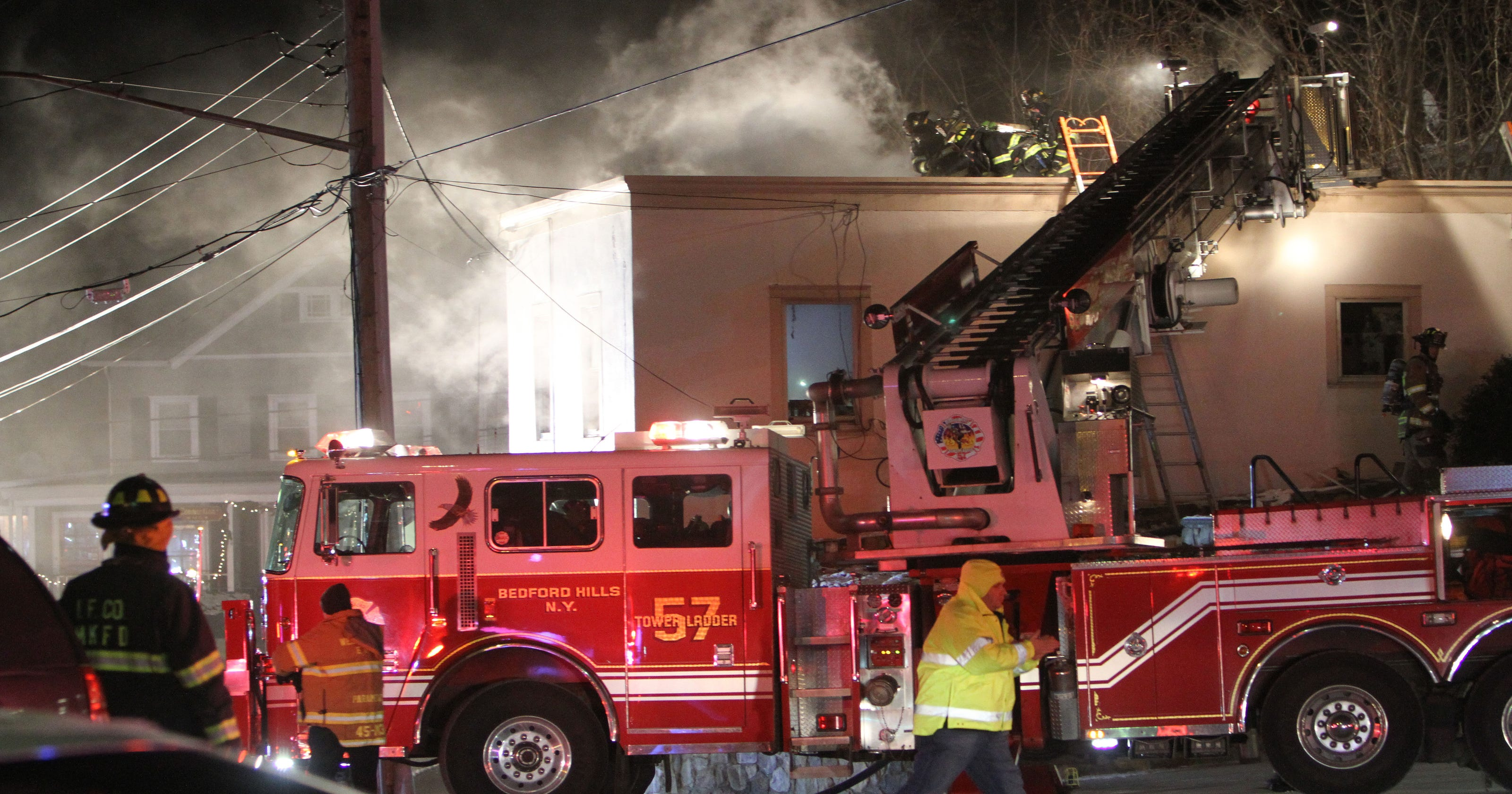 Fire Burns Through Bedford Hills Business Apartment Next To Firehouse