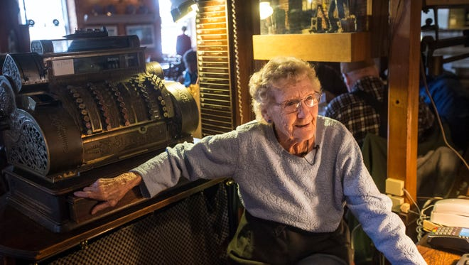 At 94 years old, Marie Hainline is thought to be the oldest waitress in Iowa. She still waits tables and works the register at the Bonaparte Retreat in Bonaparte.