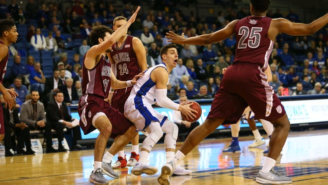 Reed Timmer led Drake with 22 points Tuesday against Southern Illinois, which put him 10 away from breaking the school's career scoring mark.