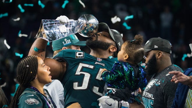 Eagles defensive end Brandon Graham played in the postseason with a high ankle sprain, including in the Eagles' Super Bowl victory over the New England Patriots.