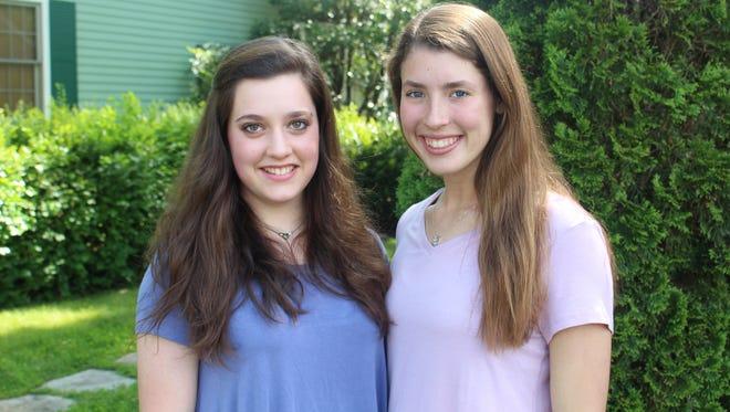 Williamson County Fair scholarship recipients Hannah Gordon, left, and Ashley Haylett