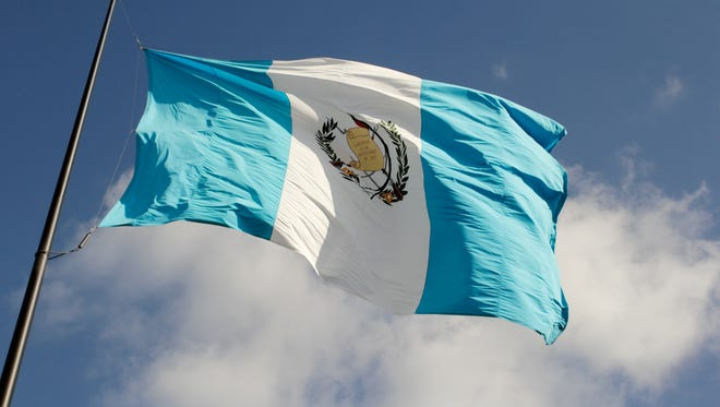 The Guatemalan flag.