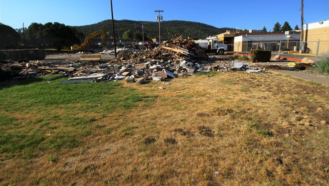 The Lincoln County Medical Center's front offices were leveled to make way for the new hospital.
