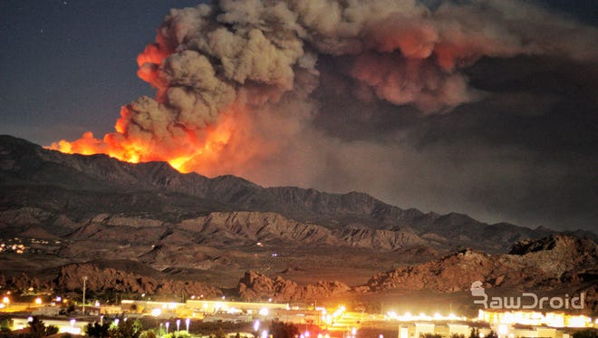 The West Valley Fire in Southern Utah burned more than 11,000 acres. The photo was taken June 27, 2018.