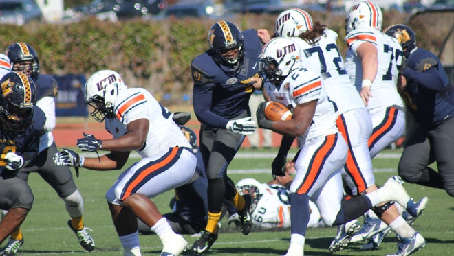 Senior running back Abou Toure ran for 234 yards in the Skyhawks 62-38 win over Murray State Saturday.