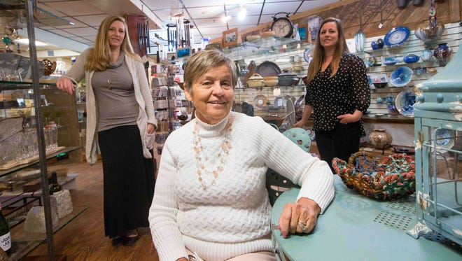Kristin Short (left) and Joanna Staib (right) took over GrassRoots on Main Street in Newark from their mother, Marilyn Dickey, in January. They will celebrate the store's 40th year on April 4.
