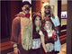 Seahawks quarterback Russell Wilson as Papa Bear, his wife as Mama Bear, another woman as Baby Bear and ... Seahawks wide receiver Golden Tate as Goldilocks!