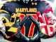 Detail of Maryland's gloves.