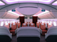 The Dreamliner's signature lighting helps set the mood in the business-class section of one of LAN's 787 Dreamliners.