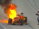 Safety crews struggle to help Simona de Silvestro from her burning car after she crashed into the wall at Texas Motor Speedway in June 2010. Safety workers arrived on the scene immediately but took nearly 40 seconds to pull her from the wreckage.