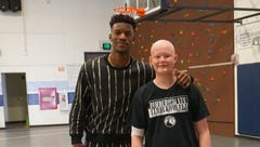 Wish granted: Greenville teen, Jimmy Butler shoot hoops together for ESPN's 'My Wish'