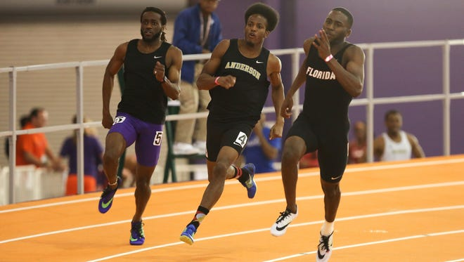 Anderson University junior Christopher Burton is a strong competitor in 100 and 200-meter runs at the SAC Championships.