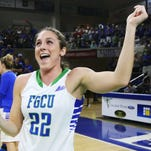 FGCU's Jenna Cobb is introduced before Saturday's game against Jacksonville University at Alico Arena in Fort Myers. Cobb was honored during Senior Night activities. FGCU beat Jacksonville 78-47.