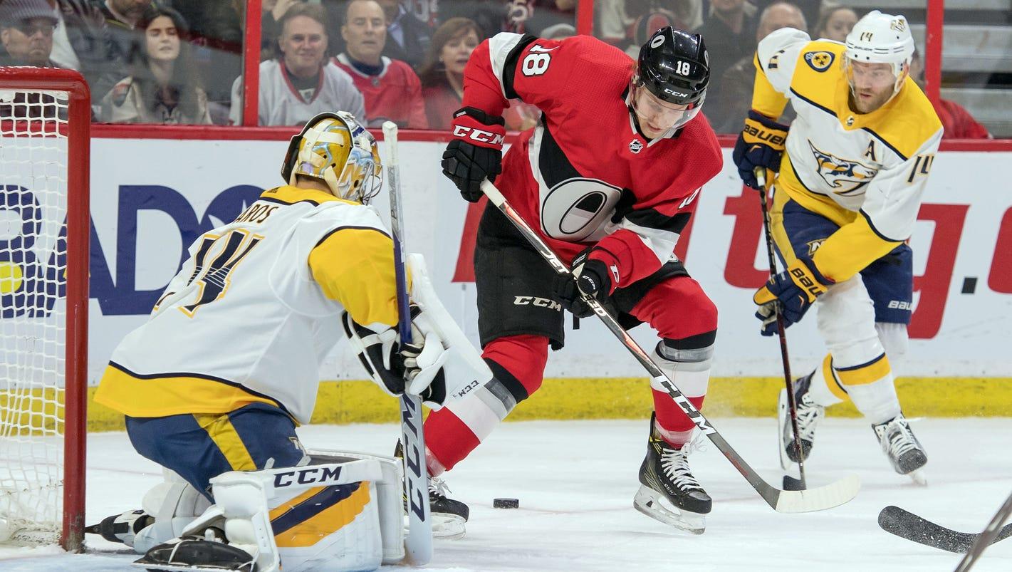 Ottawa Senators spoil Kyle Turris' return with Predators