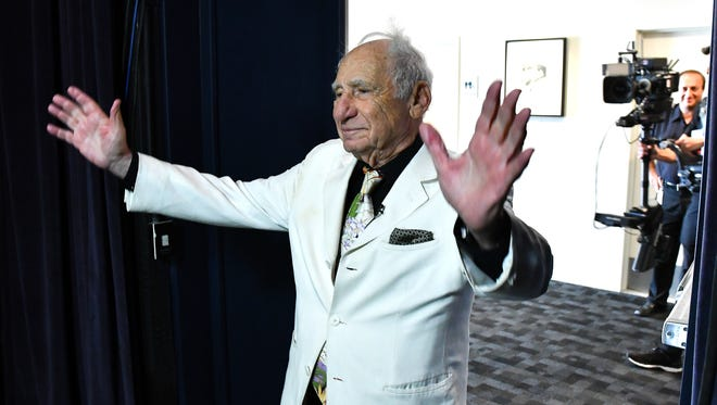 Mel Brooks hosts a live introduction to a nationwide Fathom Events screening of 'Young Frankenstein' on Oct. 5, 2016.