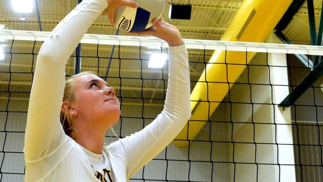 Zeeland East's Grace Steenwyk is the setter on the volleyball team and plays a key role.