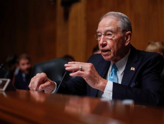 Senate Judiciary Committee Chairman Sen. Charles Grassley,