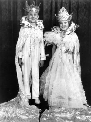 W. Leslie Carloss, Jr., son of Mr. and Mrs. Leslie Carloss and student at White Station School, and Betty Jane Bouton, daughter of Mr. and Mrs. Webb Bouton and student at Teachers College Training School, will rule as juvenile King and Queen of the Cotton Carnival, having been selected at the Children's Ball on 15 May 1936.