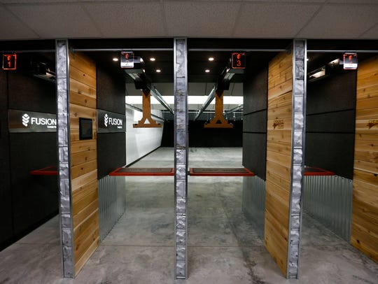 Shooting lanes inside the new Cherokee Firearms store