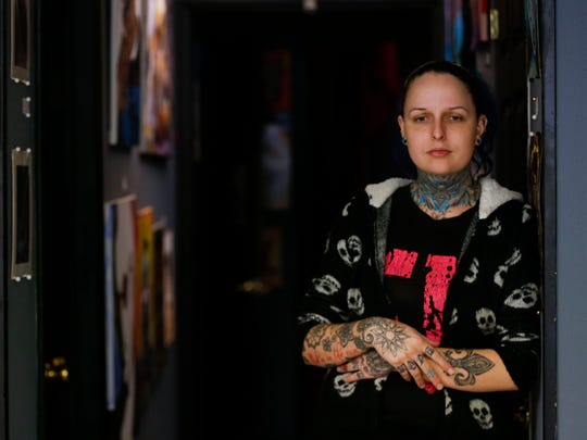 Tattoo artist at Electric Voodoo Tattoo Hannah Colburn