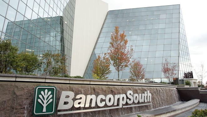 This photo taken Oct. 31, 2006, shows the exterior of the BancorpSouth headquarters in Tupelo.